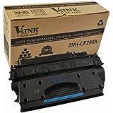 V4INK® New Compatible CF280X Toner Cartridge-High Yield (80X) for LaserJet Pro 400 MFP M401/M425 Laser Toner Printers