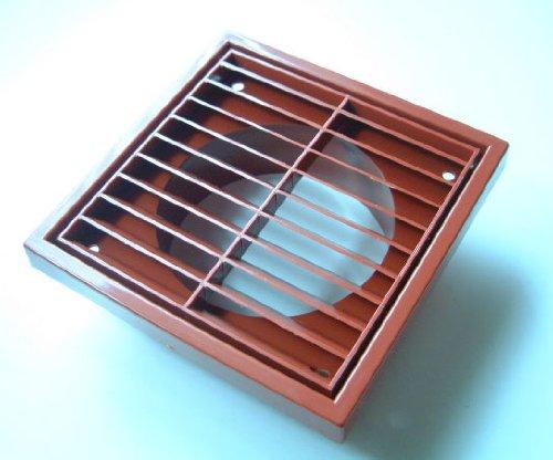 100mm fixed louvre extractor fan wall vent Terracotta