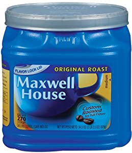 Maxwell House Original Ground Coffee, 34.5-Ounce Cannister (Pack of 2)