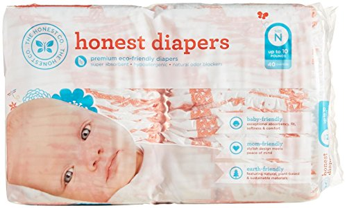The Honest Company Disposable Diapers - Giraffe - Newborn - 40 ct