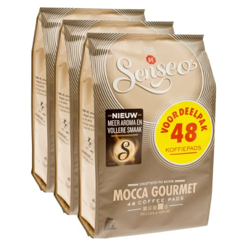 Senseo Mocca Gourmet, New Design, Pack of 3, 3 x 48 Coffee Pods