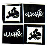 Cliche Square Logo Sticker