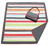 JJ Cole  Outdoor Blanket,Gray/Red, 5 x 5