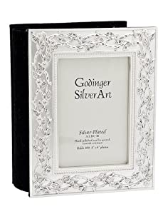 Godinger Satin Silver Art Heart Album with Swarovski Crystals 4x6