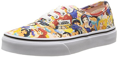 Vans U Classic Slip-On Disney Sneakers, Bambini, Multicolore (Disney/Multi Princess), 34