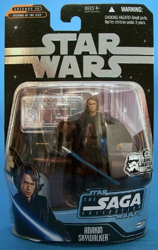 Anakin Skywalker Star Wars Revenge of the Sith Episode III Ultimate Galactic Hunt Silver Stand Figure - 1