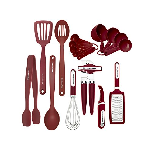 KitchenAid 17-piece Tools and Gadget Set, Red (Red Kitchen Utensils compare prices)