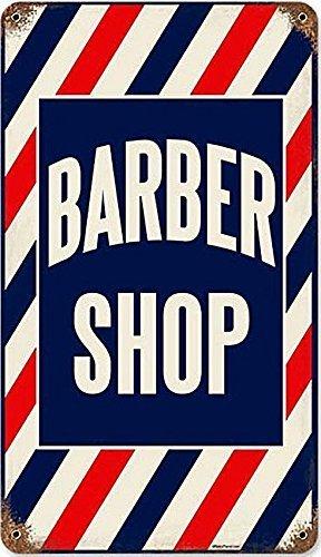 Enseigne Métal Style Rouillée Barber Shop Barbier 360mm x 200mm (pst)