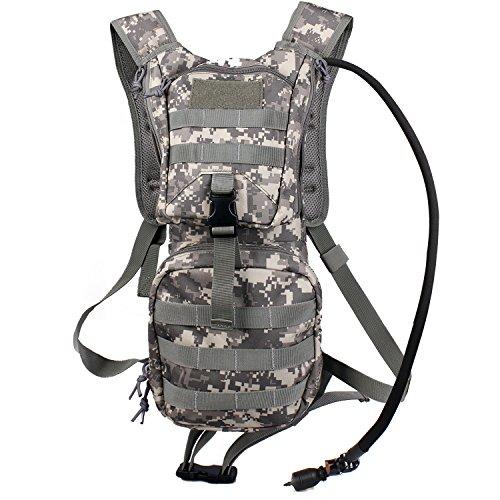 Unigear(ユニジア) ハイドレーションバックパック タクティカル バックパック 2.5L ウォーターバッグ内蔵 ハイキング、サイクリング、ランニング、ウォーキングやクライミング用(ACU)