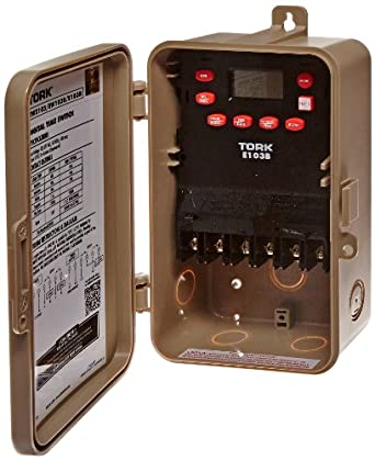 NSI Industries E103B 24 Hour Time Switch, Multipurpose Control, 120-277 VAC Input Supply, 1 Channel, DPST Output Dry Contact