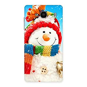 Snowman Multicolor Back Case Cover for Redmi 2 Prime