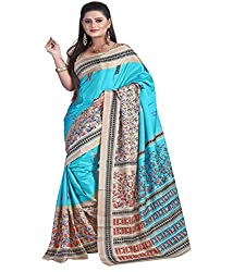 SB Creations Women's Turcky Silk Saree (SB_109_Multi)