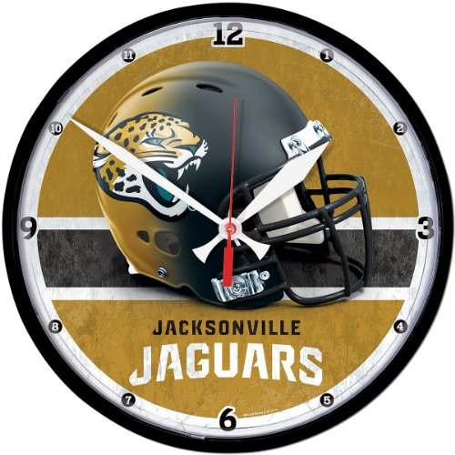 Wincraft Jacksonville Jaguars Helmet Round Clock front-10617
