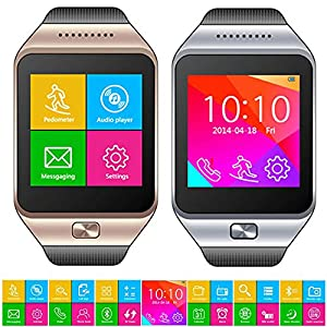 Indigi® Smart Phone And Watch SWAP GSM Wireless + Bluetooth Sync Interconvertible 2-in-1 (Silver)