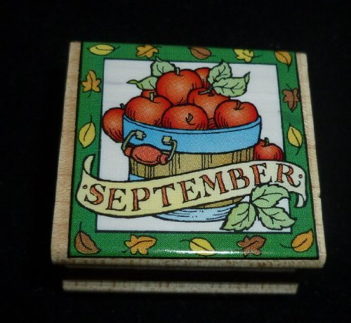 September Apples Rubber Stamp - 1