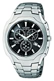 Citizen Men's Eco-Drive Chronograph Titanium Black Dial Watch #AT0890-56E