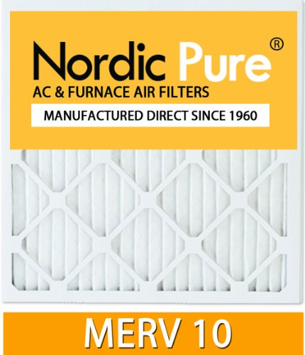 Nordic Pure 18x24x4 MERV 10 Pleated AC Furnace Air Filter, Box of 1
