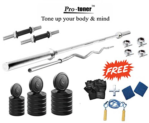 Protoner 30 kg with 4 rods home gym package for fitness weight training