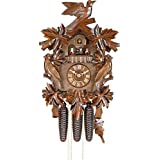 German Cuckoo Clock 8-day-movement Carved-Style 20.00 inch - Authentic black forest cuckoo clock by Hekas (Color: Walnut)