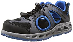 Columbia Youth Supervent Hybrid Shoe (Little Kid/Big Kid),Black/Hyper Blue,1 M US Little Kid