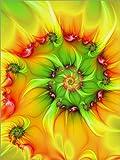 Alu Dibond 100 x 130 cm: Fraktal 'An einem heißen Sommertag' von gabiw Art