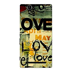 Enticing Love Typo Multicolor Back Case Cover for Sony Xperia T2