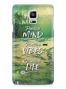 YuBingo Positive Mind Designer Mobile Case Back Cover for Samsung Galaxy Note 4