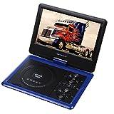 Portable 270 degree Swivel DVD Player LCD Screen Display Game USB TV SD SWIVEL & Flip VAG CD VCD MP3 MP4 USB Home Theater (9.5 inch blue)