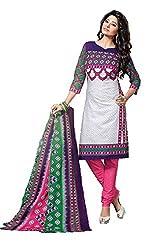 Balaji Women's Cotton Unstitched Dress Material_5113_Multicolored_Freesize