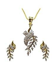 Sheetal Jewellery Silver & Golden Brass & Alloy Pendant Set For Women - B00TIGZRLE