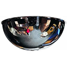 See All Panaramic Full Dome Plexiglas Security Mirror, 360 Degree Viewing Angle