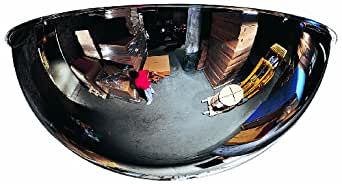 """See All PV18-360 Panaramic Full Dome Plexiglas Security Mirror, 360 Degree Viewing Angle, 18"""" Diameter (Pack of 1)"""