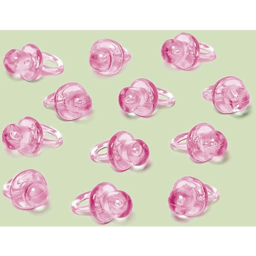 Pink Pacifier Favor Charms 24Ct front-1012597