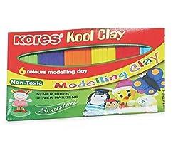 Kores Kool Clay - 100 grams, Pack of 6 Shades, 12 Packs