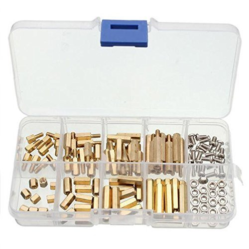 yosoo-120pcs-m3-copper-brass-pillars-standoff-circuit-spacer-pcb-board-nut-screws-hex-round-single-c
