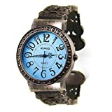 KIMIO® Vogue & Tide Bangle Watch Vintage Style Lady Watch Fashion Watch Wrist Watch - Blueby HOTER