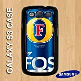 G3-2 - Black - Fosters Lager Beer Alcohol Can - Samsung Galaxy S3 Hard Plastic case - Quirky, Novelty, Birthday xmas Gift