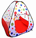 Jumbo Red Polka Dot Teepee Twist Play Tent w/ Tote Bag (Mats & Balls Sold Separately)