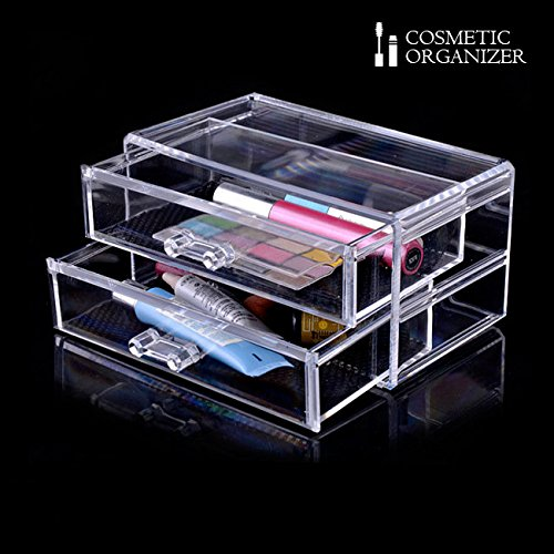 Organizza Cosmetici Make Up Aclinico Trasparente Cosmetic Organizer 2 Cassetti