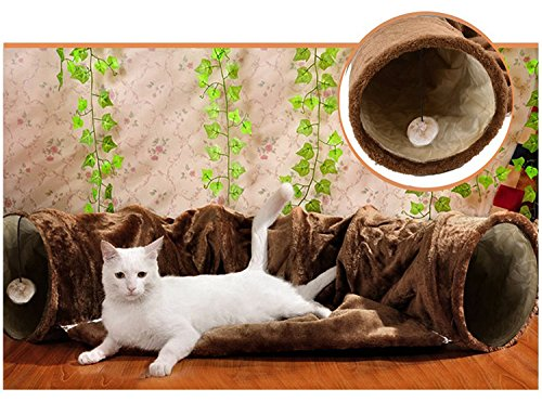 cat-tunnel-toy-and-bed-2-in-1-myguru-collapsible-removable-warm-plush-bed-with-scratching-ball-for-p
