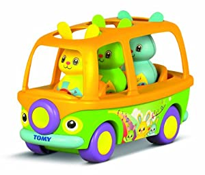 TOMY Primera Infancia - Conejitos Popstars y su bus, color amarillo, verde, azul y lila (T72227)