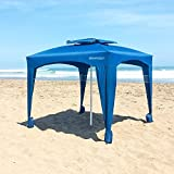 EasyGo Cabana -Beach & Sports Cabana keeps you Cool and Comfortable. Easy Set-up and Take Down. Large Shade Area. More Elegant & Classier than Beach Umbrella (Blue)