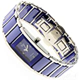 Garde Uhr elegante Damenuhr Keramikuhr steel 13777 blau ceramic ladies watch