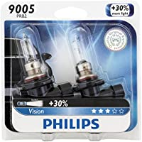 2 Pack Philips 9005 Vision Upgrade Headlight Bulb