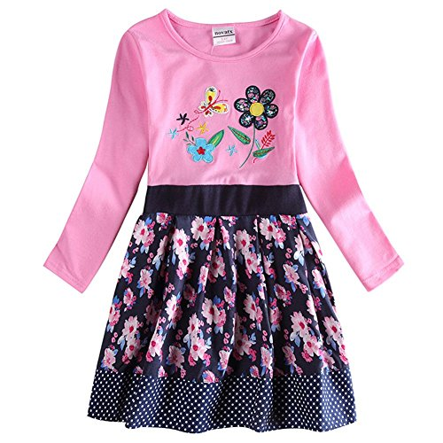 Novatx Long Sleeve Cotton Baby Girl Dress H6241 Pink (5/6y) (Made In China Wholesale compare prices)