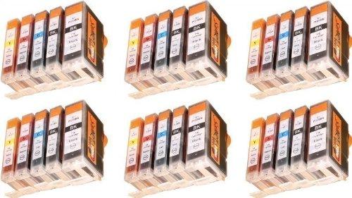 Start - 30 XL Ersatz CHIP Patronen kompatibel zu PGI-5 / CLI-8 für Canon Pixma iP3300, iP3500, iP4200, iP4300, iP4500, iP5200, iP5300, iX4000, iX5000, MP500, MP510, MP520, MP530, MP600, MP610, MP800, MP810, MP830, MP970, MX700, MX850, PGI5, CLI8