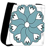 Snoogg floral peacock faces Womens Carry Around Cross Body Tote Handbag Sling Bags