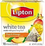 Lipton White Tea Pyramid, Peach Mango 18 ct
