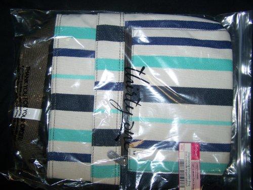 Thirty One Cabana Twill Stripe Organizing Shoulder Bag front-759439