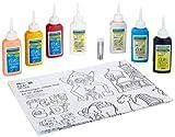 Toy - Hobby Line 42844 - Glas Design Set mit extra viel Farbe und Glitzer - Glitzerwelt